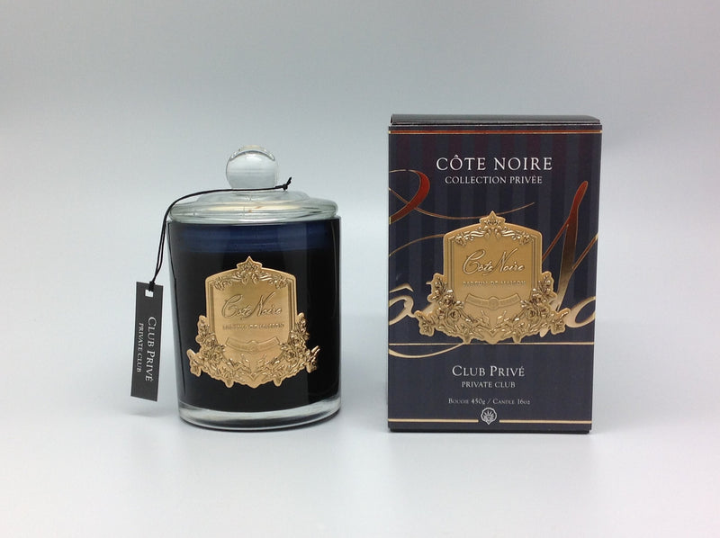 Cote Noire 450g Soy Blend Candle - Private Club - Gold - GML45025