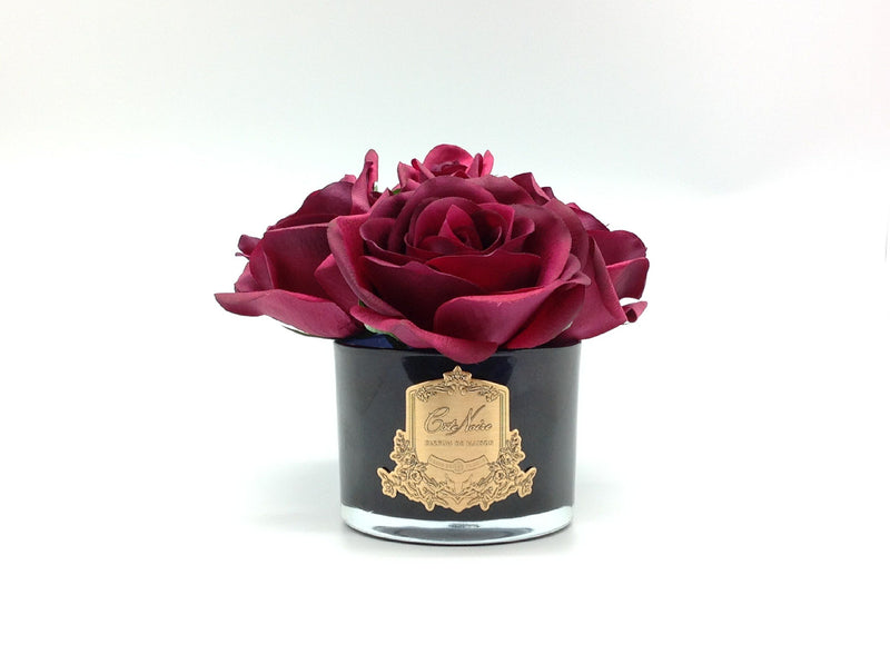 Cote Noire Perfumed Natural Touch 5 Roses - Black - Carmine Red - Burgundy Box - GMRB90