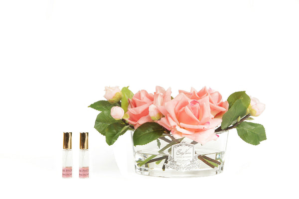 Cote Noire - Luxury Range Oval - White Peach Roses - LOV05