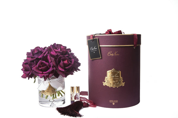 Cote Noire - Luxury Grand Bouquet - Gold Badge - Carmine Red - Burgundy Box - LTW04