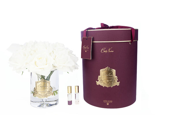 Cote Noire - Luxury Grand Bouquet - Gold badge - Champagne - Burgundy Box - LTW05