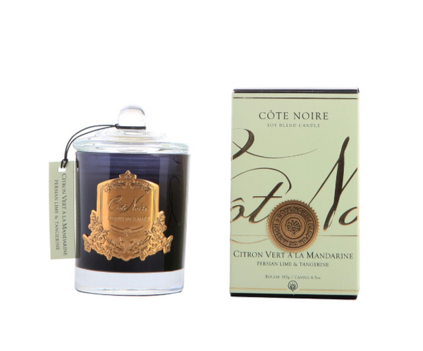Cote Noire 185g Soy Blend Candle - Persian Lime & Tangerine - Gold - GML18522