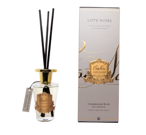 Cote Noire 150ml Diffuser Set - Pink Champagne - Gold - GMDL15018