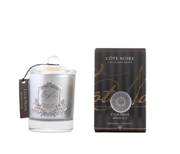 Cote Noire 185g Soy Blend Candle - Private Club - Silver - GMS18525