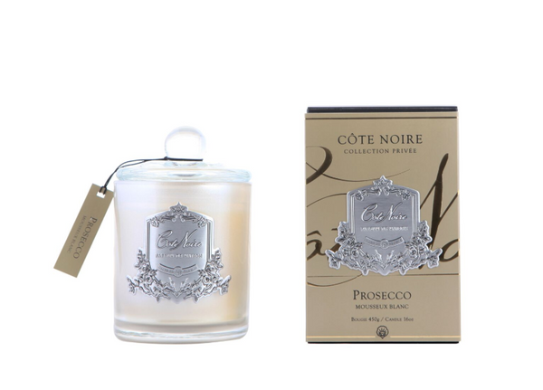 Cote Noire 450g Soy Blend Candle - Prosecco - Silver - GMS45032