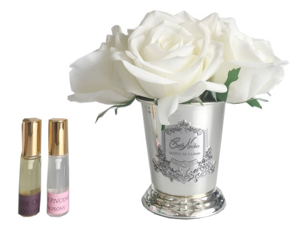 Cote Noire - Seven Rose Bouquet in Ivory White - SMB01