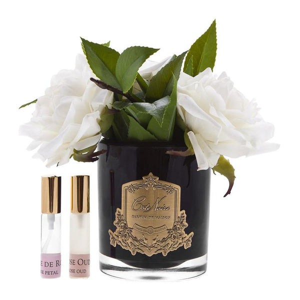 Cote Noire Perfumed Ivory English Rose - Black Glass - SFR02