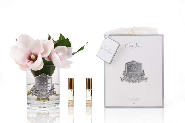 Cote Noire Perfumed Pink Magnolias in Clear Glass - SFP13