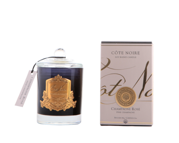 Cote Noire 185g Soy Blend Candle - Pink Champagne - Gold - GML18518