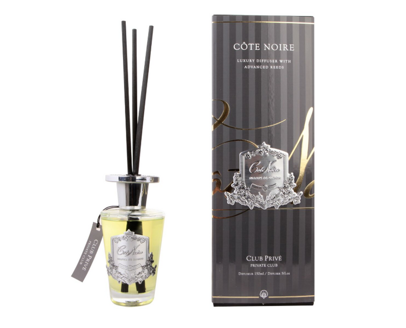 Cote Noire 150ml Diffuser Set - Private Club - Silver - GMDS15025