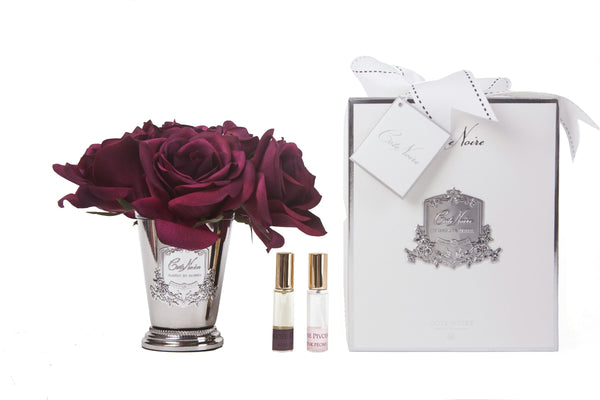 Cote Noire - Seven Rose Bouquet in Carmine Red - SMB04