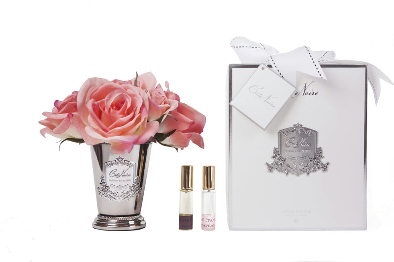 Cote Noire - Seven Rose Bouquet in White Peach - SMB05