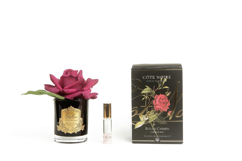 Cote Noire Perfumed Natural Touch Single Rose - Black - Carmine Red - GMRB04