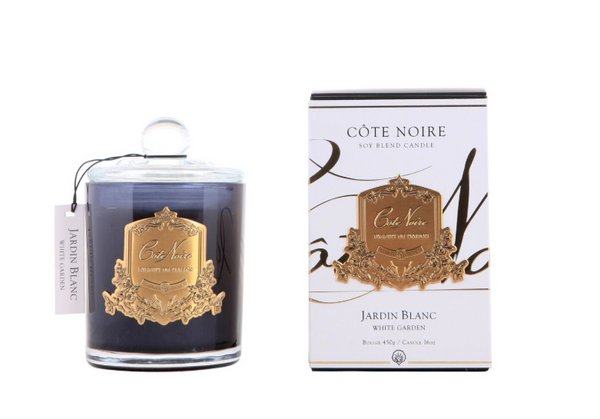 Cote Noire 450g Soy Blend Candle - White Garden - Gold - GMC45004