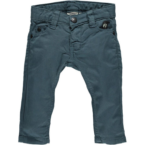 Unisex 6 pocket slim-OIL BLUE