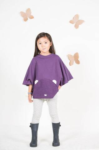 Go Gently Baby Little Bear Poncho - Rose