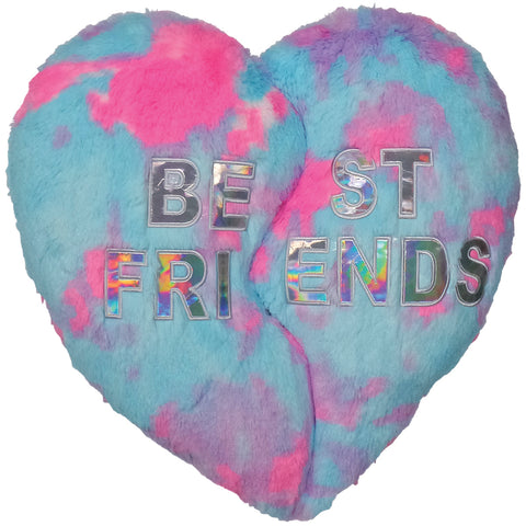 Heart BFF Furry Fiber Filled Pillow By Iscream