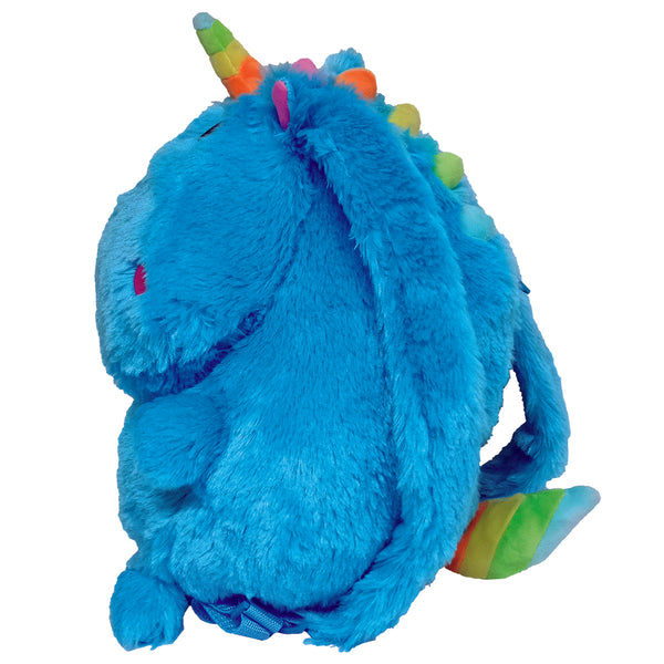 Unicorn Plush Furry Backpack By Iscream