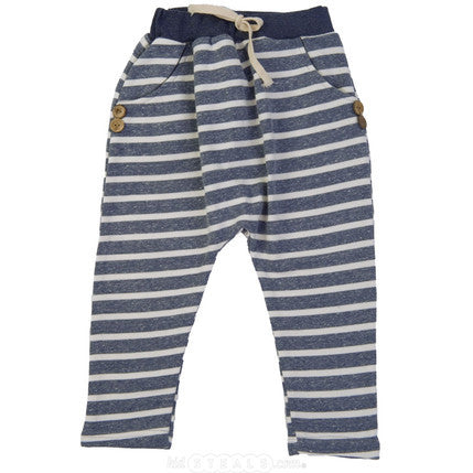 Hip Harem Pants Heather Grey Striped