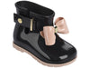Mini Melissa Sugar Rain Bow Rain Boots - Black