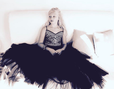 DOLLY BY LE PETIT TOM ® BEJEWELED TUTU DRESS BLACK