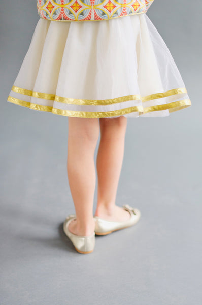 Whipped Cream Tulle Skirt
