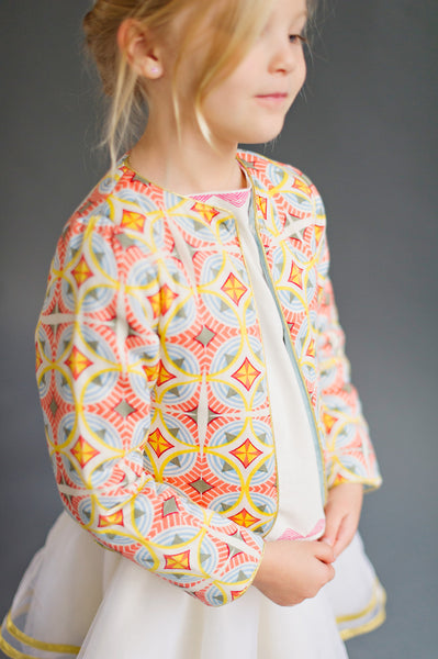 Double-Sided Quilted Jacket Mosaic
