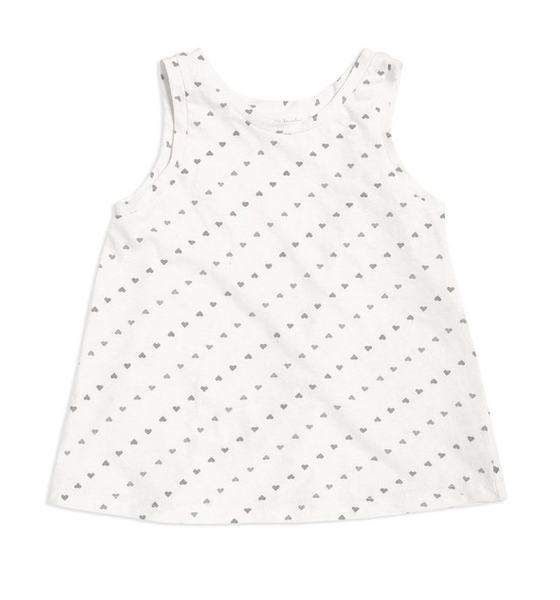 GO GENTLY BABY PRINTED TANK- NATURAL HEARTS
