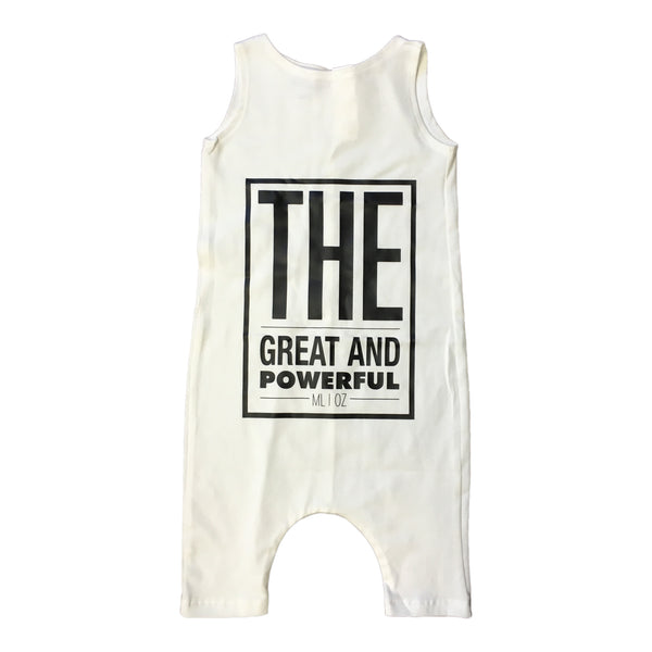 Milan And Oz Tank Romper - The Great And Powerful White