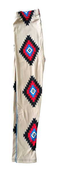 Sinai Printed Legging - Aztec in Tan