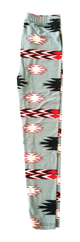 Copy of Sinai Printed Legging - Aztec in Grey