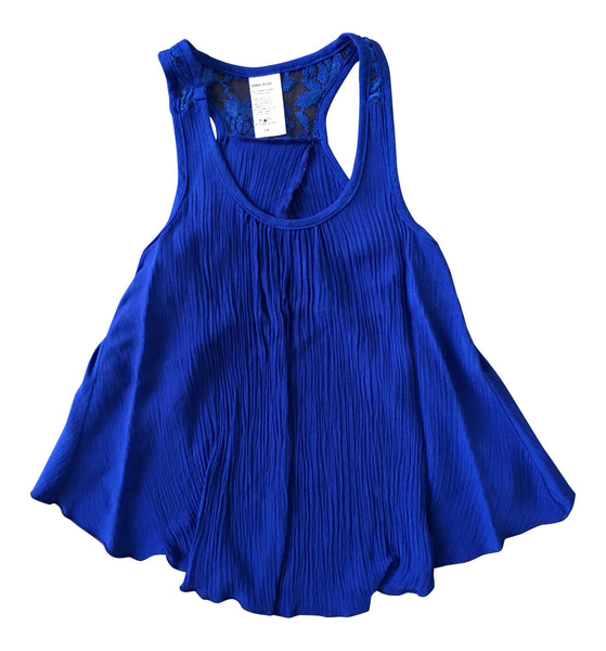Sinai Kids Open Back Tank in Royal Blue