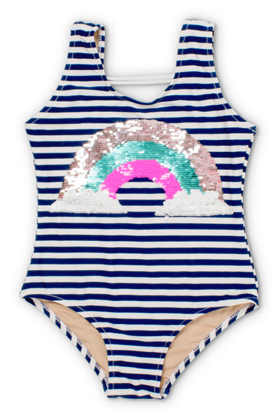 Shade Critters Magic Two-Way Sequins Rainbow Scoop Swimsuit
