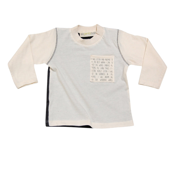 2eb4f0117b11 GO GENTLY BABY MESSAGE POCKET TEE | Milan and Oz