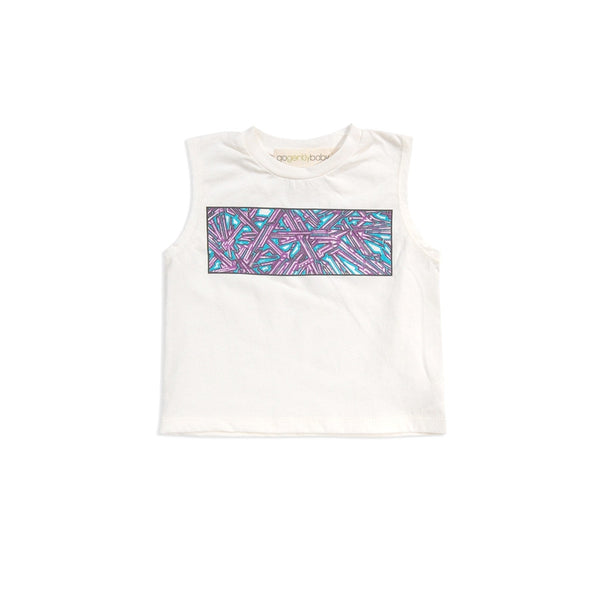 GENTLY BABY GRAFFITI SCREEN TEE-WHITE