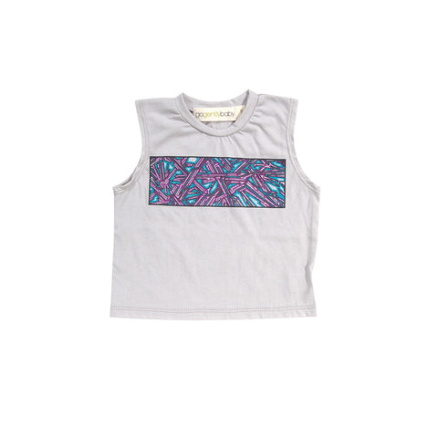 GO GENTLY BABY GRAFFITI SCREEN TEE-SLATE