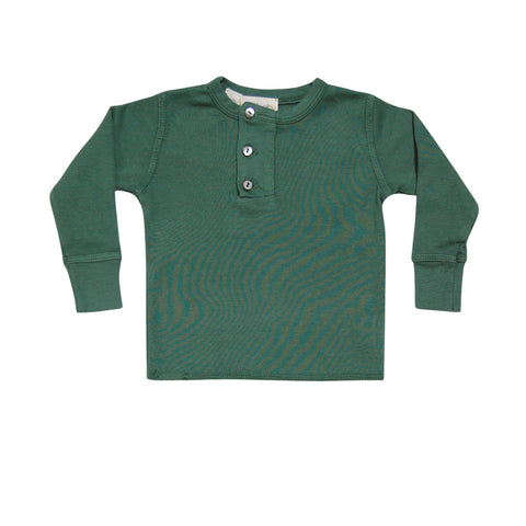 GO GENTLY BABY WIDE PLACKET HENLEY PINE