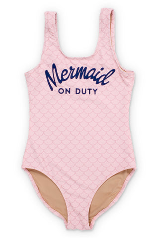 Shade Critters Pink Mermaid on Duty Scoop Swimsuit (Scales appear when wet!)