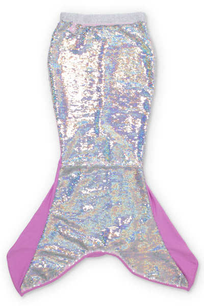 Shade Critters Purple/Silver Flippable Sequins Mermaid Tail