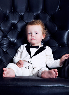 THE TINY UNIVERSE THE TINY WHITE VELVET BOW TIE TUX