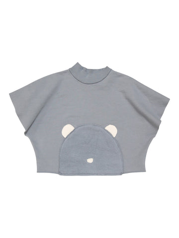 Go Gently Baby Little Bear Poncho - Silver