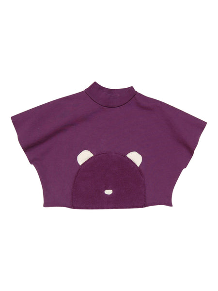 Go Gently Baby Little Bear Poncho - Plum