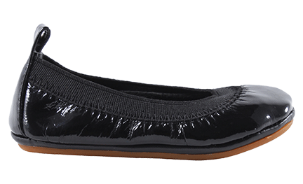 YOSI SAMRA SAMARA PATENT LEATHER FLAT