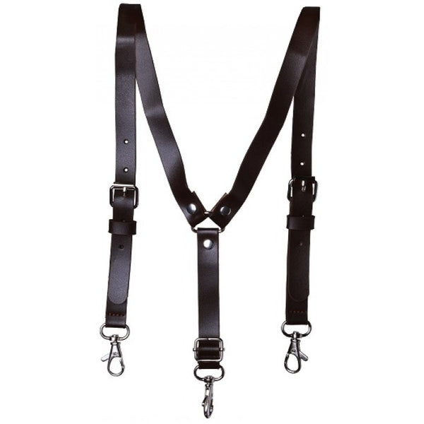 Troy James Boys Dark Brown Boys Suspenders W/ 3 Clips