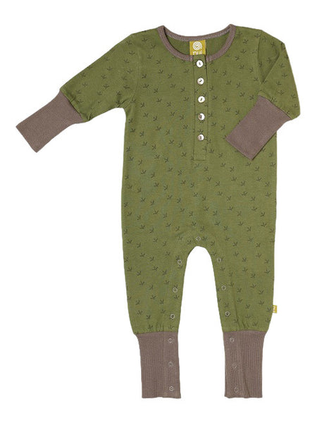 NUI PUKEKO PLAYSUIT FOREST KIWI FEET