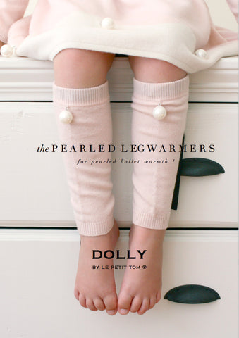 DOLLY Pearled Cashmere/Merino Wool Leg Warmers