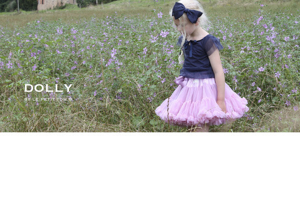 DOLLY By Le Petit Tom ® Big Hair-Bow Headband - Navy