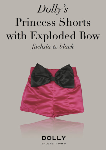 DOLLY Princess Shorts with Exploded Bow - Fuscia