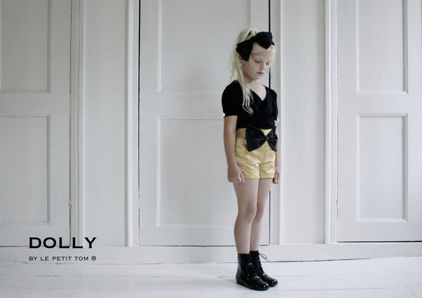 DOLLY Princess Shorts with Exploded Bow - Gold