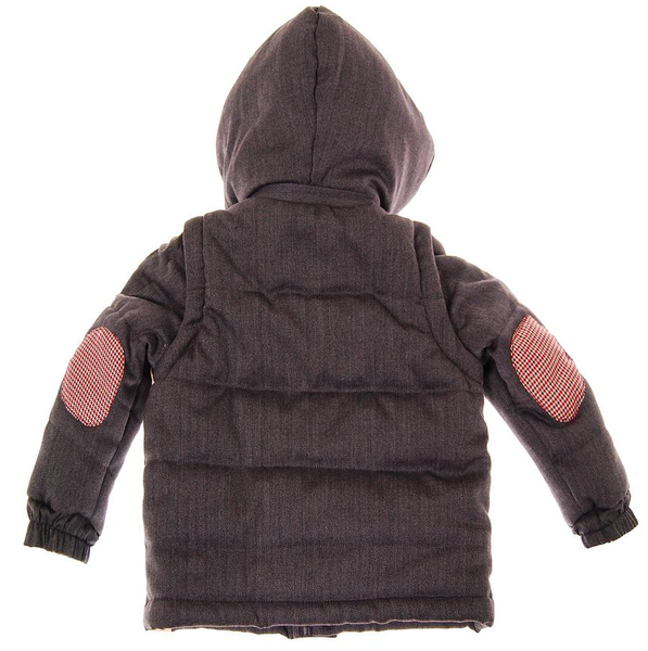 MINI SHATSU HERRINGBONE HOODED PUFF VEST
